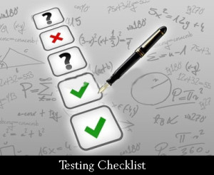 Software Testing Checklists