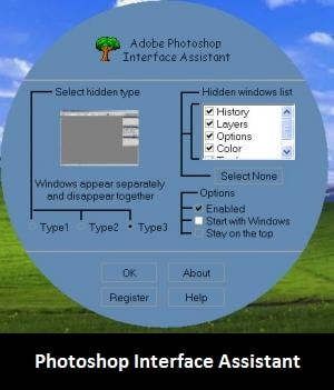 software: photoshop interface assistant
