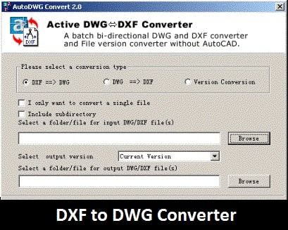 Software: DXF to DWG Converter