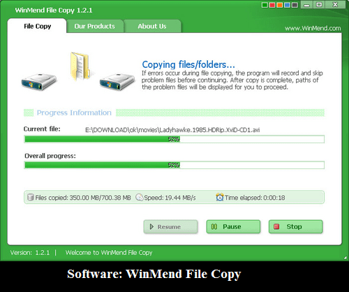 Software: WinMend File Copy