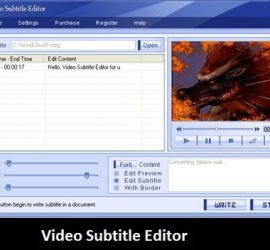 Software: Video Subtitle Editor