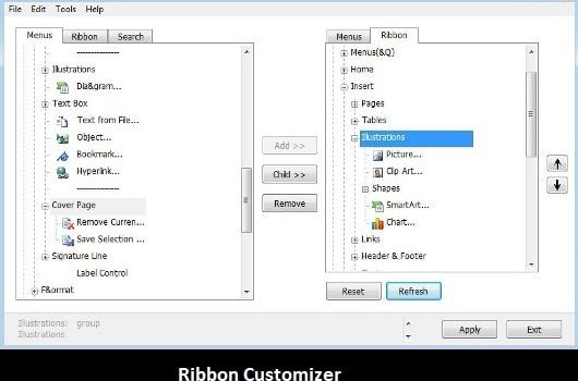 Software: Ribbon Customizer