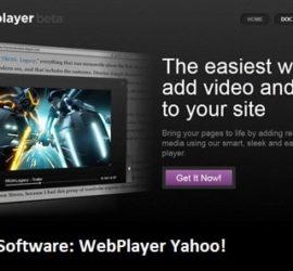 Software: Yahoo Webplayer