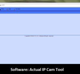 Software: Actual IP cam tool