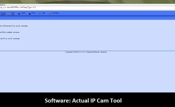 Software: Actual IP cam tool