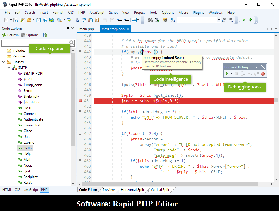 Software: Rapid PHP Editor