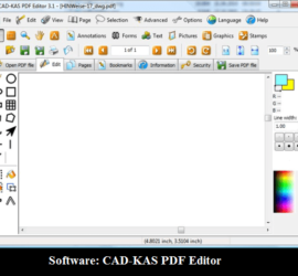 Software: CAD KAS PDF Editor